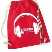 331 stahovací batoh červený
